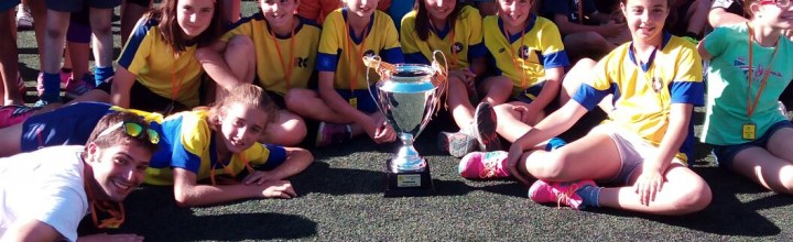 Les Nenes alevines de l'escola, és proclamen campiones de Catalunya del Cruyff Courts 6vs6